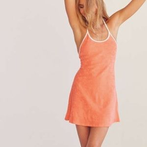 URBAN OUTFITTERS terry cloth orange dress